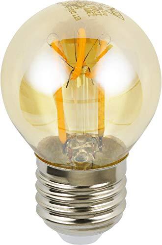 LED Filament Vintage Tropfen Birne A45 E27 360° - Rauchglas extra-warmweiß (2200 K)