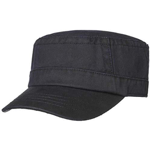 Stetson Gorra Militar Cotton-Mix Hombre - de Sol Verano con Visera, Cerrado por atrás, Visera Primavera/Verano - L (58-59 cm) Azul Oscuro