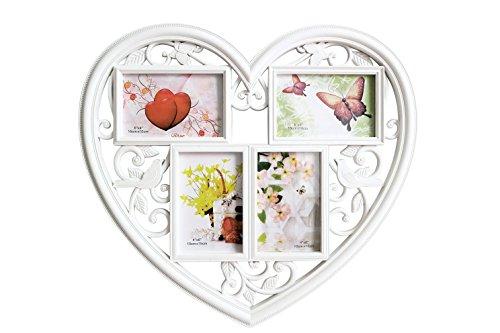 GUTEINTE Cornice Portafoto da Parete a Forma di Cuore Love - Romantico (45.5 x 41 cm)