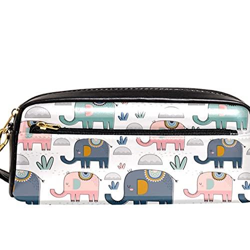 Estuche organizador de lápices con diseño de elefantes, color rosa, verde, azul marino, para la escuela, adolescentes, niños, niñas, hombres y mujeres