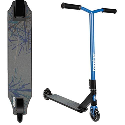 Bopster Patinete para Trucos y Saltos Freestyle Giro 360 Grados Ligero Manillar Ancho Deck Deportivo - Azul
