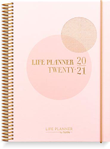 Life Planner Pink Schülerkalender 2020/2021 | Lebensplaner Rosa | A5 | Organisieren Sie Ihre Agenda stilvoll | Wochenplaner | Organizer | Mit Aufklebern