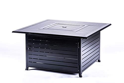 LEGACY HEATING 45 Inch Square Fire Pit Table, Hammered Black