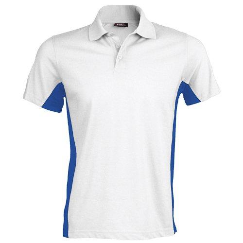 Kariban - Polo à manches courtes - Homme (2XL) (Blanc/Bleu roi)