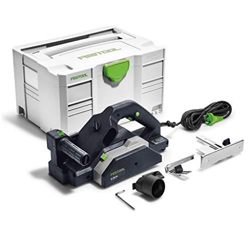 Festool Einhandhobel HL850EB-Plus 850W Herstellernr. 576607, Schwarz/Grün, 850 W, Size