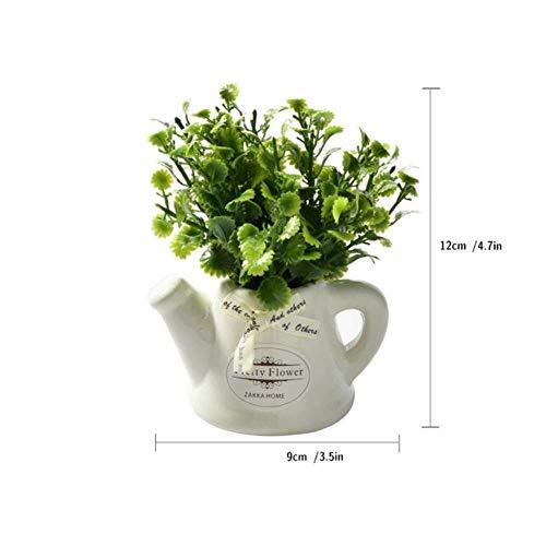 XCVB Kunstmatige Keramische Kleine Pot Vaas Mini Desktop Bonsai voor Woonkamer Tuindecoratie boerderij Bloem Plant Pepermunt Gras, stijl 1