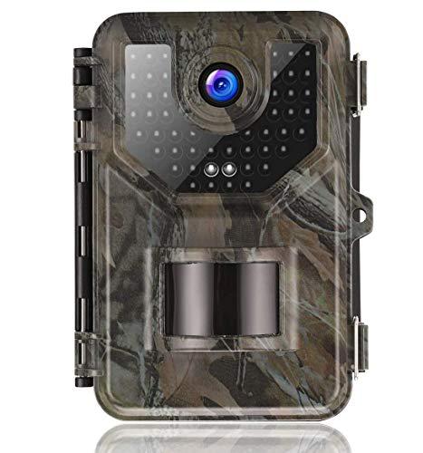 Suntek Wildkamera Fotofalle mit Bewegungsmelder Nachtsicht 16MP 1080P Full HD Wildtierkamera mit Infrarot No Glow LEDs und IP66 Wasserdicht Jagdkamera für Tierbeobachtung Haussicherheitsüberwachung