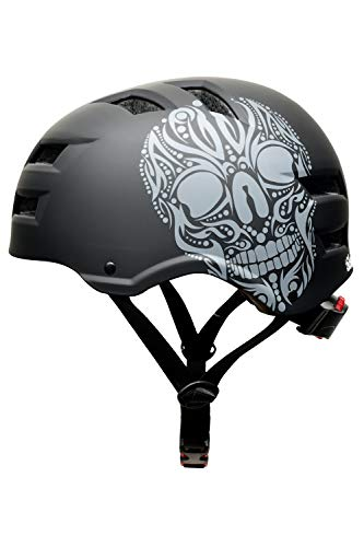 Skullcap® BMX Helm – Skaterhelm – Fahrradhelm – Totenkopf Helm – Herren Damen Jungs & Kinderhelm, schwarz, Gr. L (58 – 61 cm), Skull - 3
