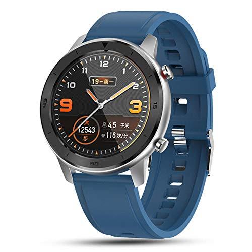 Relojes inteligentes, relojes inteligentes para hombres y mujeres, pulseras, rastreadores de actividad física, monitores de frecuencia cardíaca a prueba de agua para dispositivos portátiles: azul