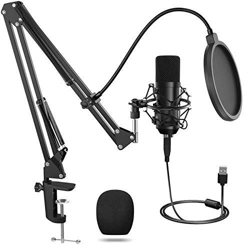 Voice over registrazione Ankuka giochi Microfono USB BM-700 cardioide condensatore microfono professionale da studio per podcasting streaming video YouTube