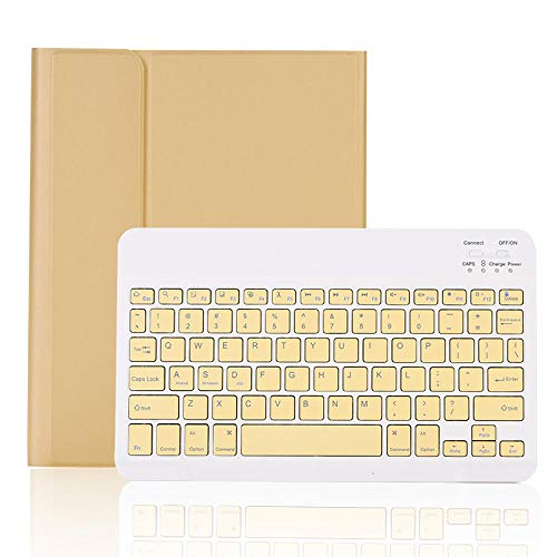 XIANNV Elegante Funda del Teclado para iPad Mini 5 Mini 4 Teclado Bluetooth para iPad Mini 4/5 Tablet Funda con Titular de la Pluma Ratón (Color : Yellow Mouse, Size : Mini 4/5)