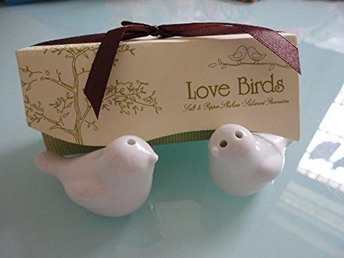 Love Birds Ceramic Salt and Pepper Shakers Wedding Favor - One Item w/Random Color and Design