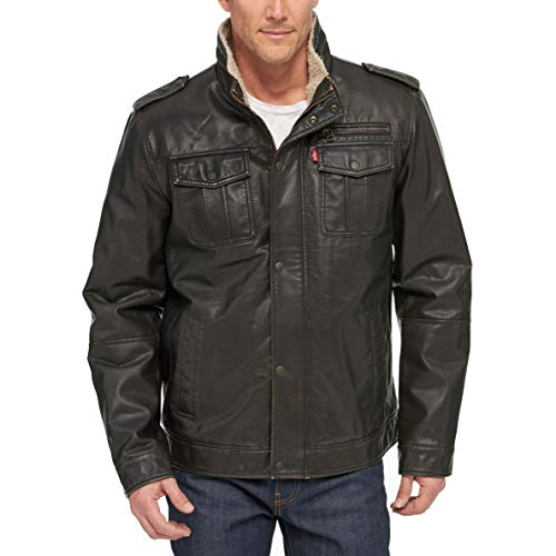 Military Leather Jackets Men's