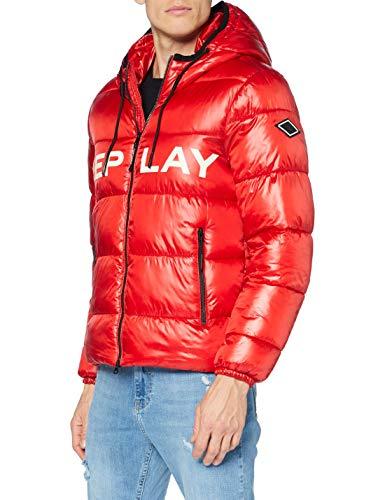 Replay Herren M8091 .000.83834 Jacke, 656 Ruby RED, S