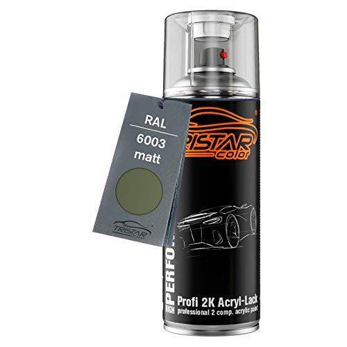 RAL 6003 Olivgrün matt 2K Acryl Spraydose Sprühdose Sprühlack Spritzlack 400 ml schnelltrocknend