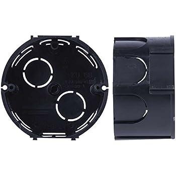 BeMatik - Caja de empotrar Redonda 65mm cajetín de Conexiones eléctricas: Amazon.es: Electrónica