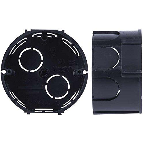 10x Caja de Registro Electrico Empotrar Pladur Circular Tapa ABS ...