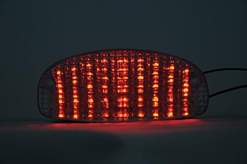 topzone Lighting Gris Lens LED moto feu arrière feu arrière avec Indicateurs clignotant Lampe Intégrée pour 1999–2005 Honda Shadow Vlx, 1999–2005 Honda Shadow Spirit 1100, 1997–1998 pour Honda CBR 1103 x x