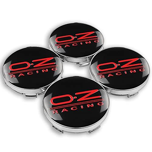 TTXS 4pcs 60mm OZ O.Z Racing Wheel Center Hub Tapas emblema de coche insignia Logo rueda centro tapa para Volkswagen Golf Polo SKODA CRUZE Hubcap OZBlackRed60mm