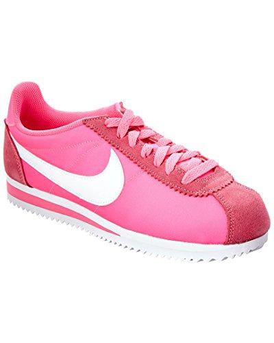 Nike Damen WMNS Classic Cortez Nylon Turnschuhe, Rosa (Pink Blast/White), 37 1/2 EU