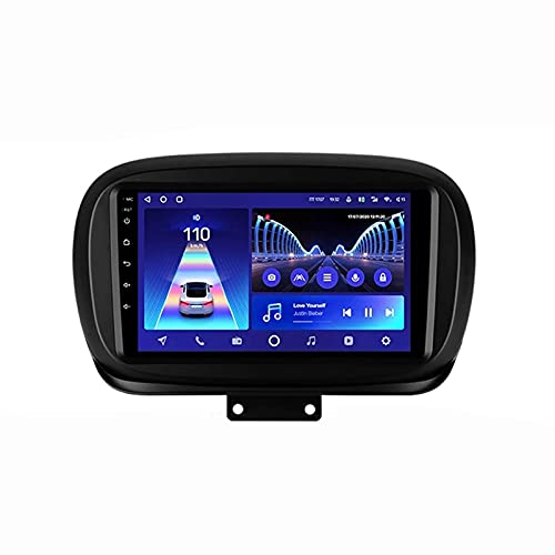 ZHFF Car Stereo Android 10.0 Radio Head Unit Compatible FIAT 500X 2014-2020 Navegación GPS 9 Pulgadas HD Pantalla táctil Reproductor Multimedia MP5 Receptor de Video con 4G WiFi SWC Carplay