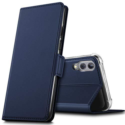 GEEMAI für Xiaomi Black Shark 2 Hülle, handyhüllen Flip Hülle Wallet Stylish mit Standfunktion & Magnetisch PU Tasche Schutzhülle passt für Xiaomi Black Shark 2 Smartphone, Blau