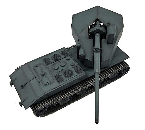 X-Toy 1:72 Military Tank Modell, WWII Deutsche E100 Heavy Tank Fertigmodell, Collectibles (5.1Inch × 2.2Inch × 1.6Inch)