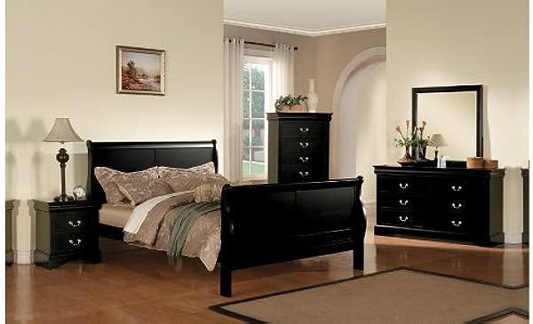 Acme 19500Q Louis Philippe III Queen Bed Black