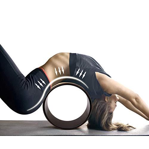 Rueda de yoga eficaz, material de protección con abdominales y ejercicios de yoga