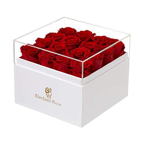 Eterfield Rosenbox Flowerbox mit 16 Infinity Rosen Geschenk 3 Jahre Haltbar für...
