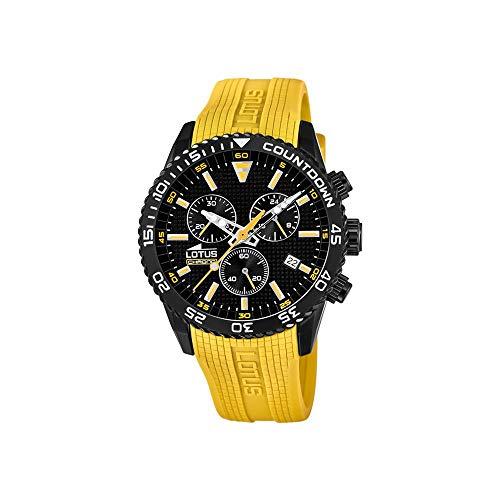 Lotus Herren Chronograph Quarz Uhr mit Plastik Armband 18672/4
