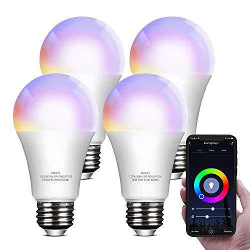 Bombilla LED inteligente compatible con Alexa Google Home Hub...