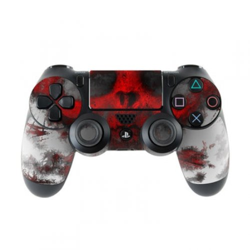 Skins4u Controller Aufkleber Design Schutzfolie Skin kompatibel mit Sony Playstation 4 PS4 War Light