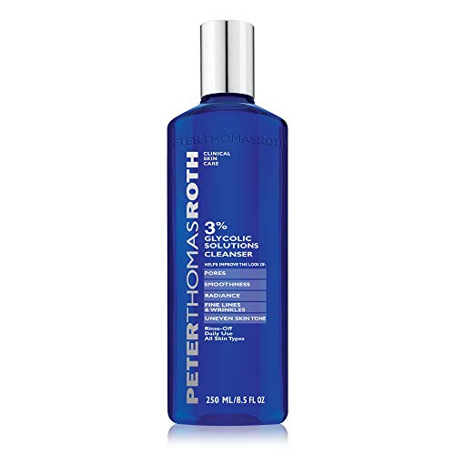 reviva peter thomas roth glycolic acids Peter Thomas Roth 3% Glycolic Solutions Cleanser, Exfoliating Facial Cleanser with Glycolic Acid, Helps Improve the Look of Fine Lines, Wrinkles, Uneven Skin Tone, Pores, Smoothness and Radiance