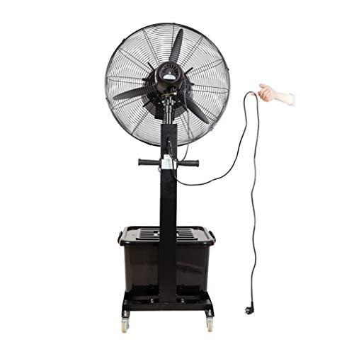 Ventilador nebulizador Exterior terraza Jardin Bar deposito Agua 42 litros/Ventiladores de pedestal/Ventilador Industrial de pie /3 Velocidades/Negro