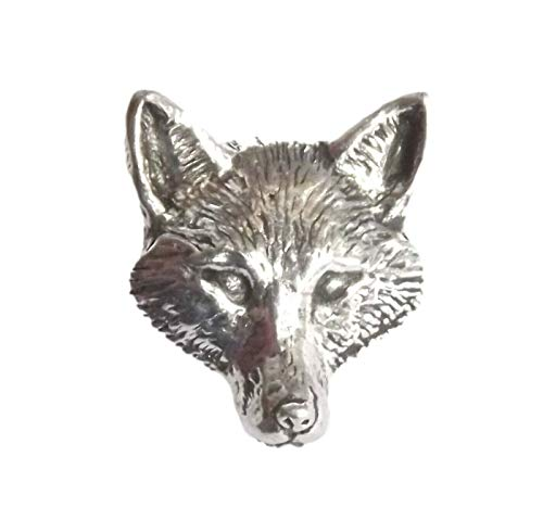 FOX HEAD 'Birds, Animals & Nature' Hand Made in UK Pewter Lapel Pin Badge