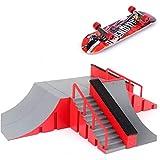 Zonfer 1pc Mini Monopatín De Juguete Skatepark Definitiva para Junta Monopatín Rampas Brett Junta De Formación Parque