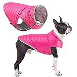 Oslueidy Abrigo de Perro Reversible,Chaqueta de Invierno para Perros Chaleco de Cachorro Caliente Ropa Impermeable para Mascotas Snowsuit de Perros para pequeños Perros Grandes