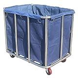 Portable Cart - GR/Carro de recolección de Servicios públicos de Acero Inoxidable, Carrito de Servicio rodante for Hotel/clasificación de lavandería/Limpieza de Limpieza (Color : Blue)