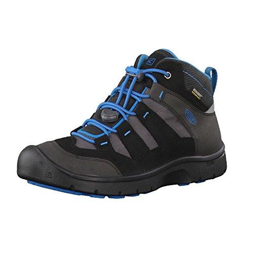 KEEN Unisex-Kinder Blk/Blue Trekking-& Wanderstiefel, Schwarz (Hikeport Mid Wp 1018000), 38 EU