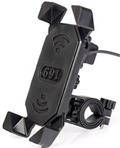STJD 自転車ホルダー バイクスマホホルダー GPSナビゲーション スマホ固定用マウント 充電可能 自転車携帯電話ホルダー USBスマホホルダー マウンテンバイク 鷹爪携帯電話ホルダー 転落防止 360°回転できる 3.5-7インチ