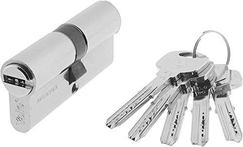 Yale, YL63070HN, Cilindro de Seguridad, YL6, Leva Larga, Llave - Llave, Niquelado, 30 x 70 mm