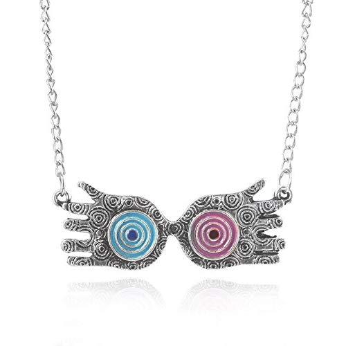 BJGCWY Collar con Colgante de Reloj de Arena, joyería para Hombres y Mujeres, 50 cm N416