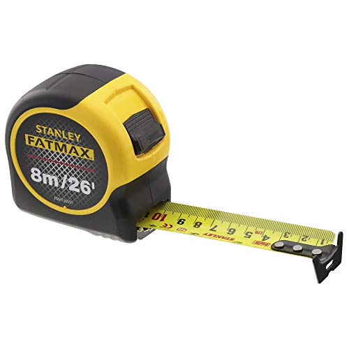 Stanley 0-33-726 Metric Imperial Tape Measure Fatmax Blade Armor, 8m 26