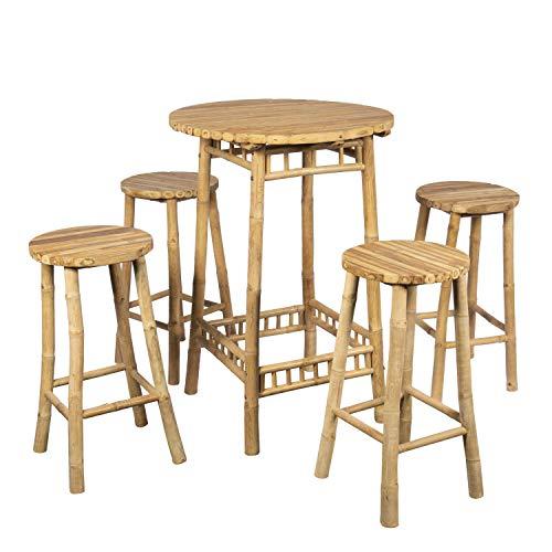 Table Mange Debout H 110 Cm avec 4 tabourets H 70 Cm, Brin d'Ombre