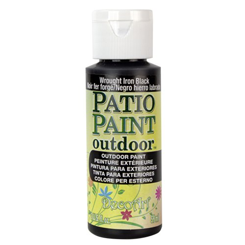 DecoArt, Wrought Iron Black Patio Paint, 2-Ounce, 2 Fl Oz