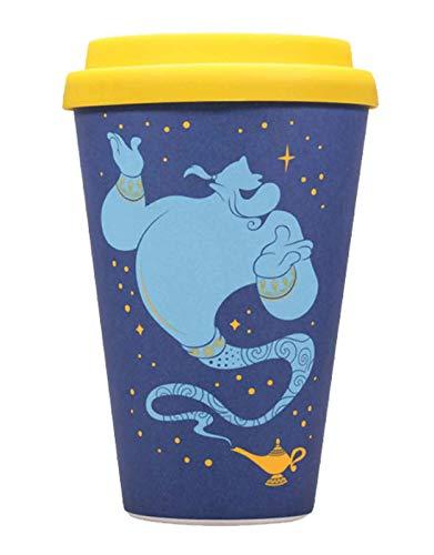 Lobcede MUGTDC03 Taza de viaje Disney Aladdin Genie, Bambú