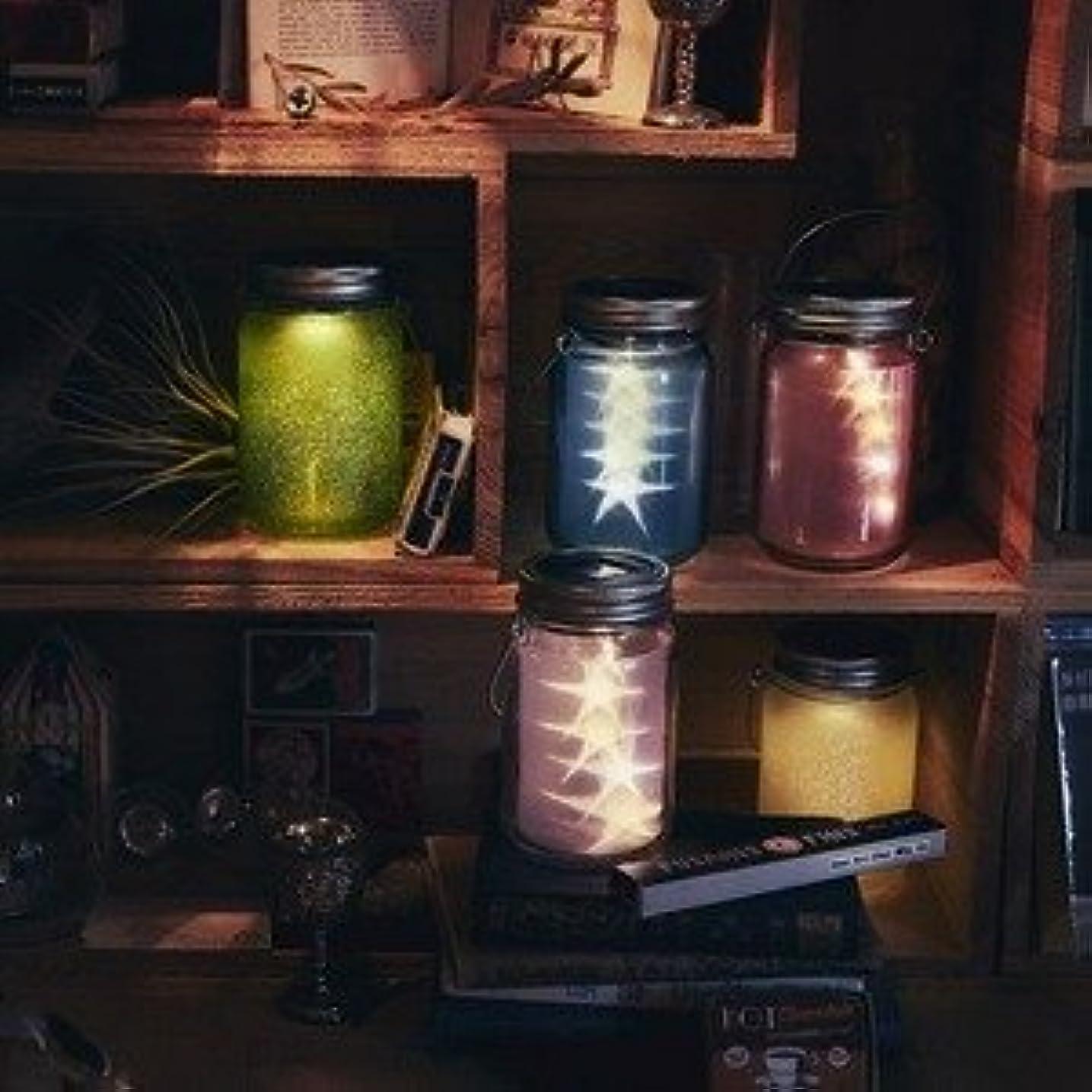 エキゾチック書くお手伝いさん充電式ソーラーライト/ガラスジャー型照明 【スター/ホワイト】 照度センサー内蔵 防雨仕様 『Glass Jar -star-』