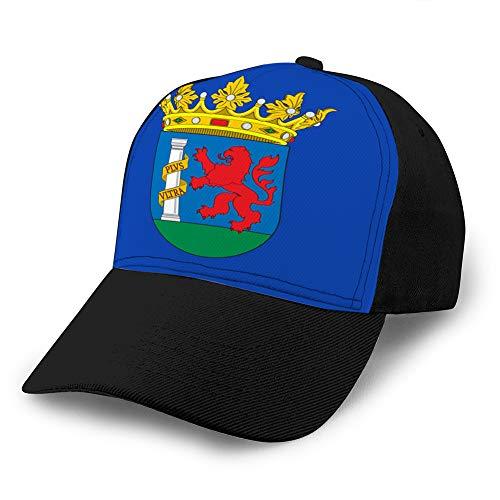 Hip Hop Baseball Cap Adjustable Denim Jean Hat Flag of badajoz in Extremadura of Spain Adjustable Cap