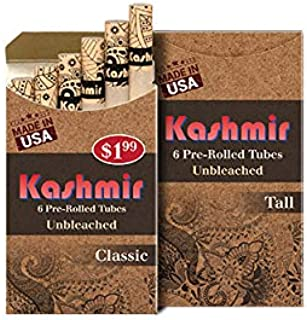 Kashmir Unbleached Hemp Pre-Rolled Tubes